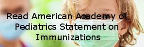 AAP statement on immunizatins
